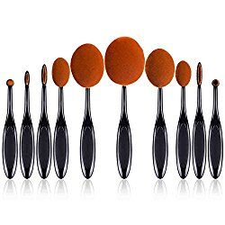 Sunmy Makeup Brush Set 10 Pieces Professional Toothbrush Oval Brush Tools