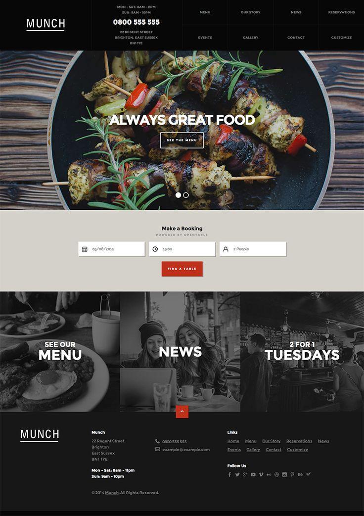 Best images about restaurant website on pinterest