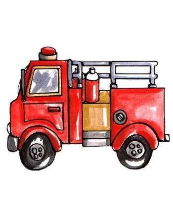 camion de bombero para imprimir