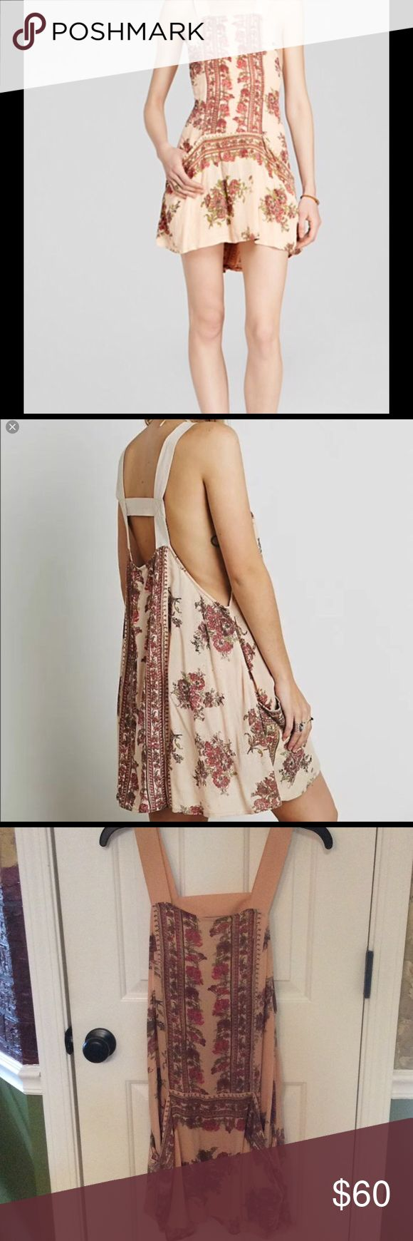NWT Free People Paradise Song Slip Dress Very cute on with or without jeans or shorts underneath! It's just been hanging in my closet. Tried it on, but never wore it. Smoke Free Home. Free People Dresses Mini