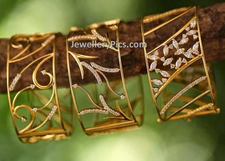 Contemporary bangle designs by Vogue jewellers - Latest Jewellery Designs