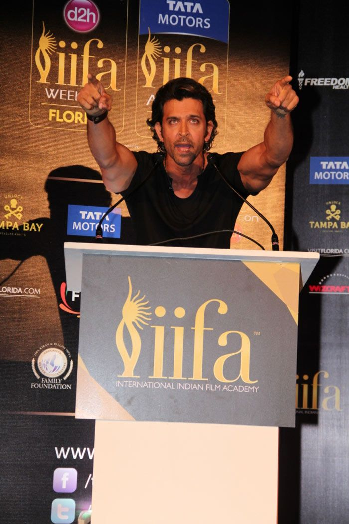 Hrithik Roshan at the IIFA 2014 press conference. #Style #Bollywood #Fashion #Handsome