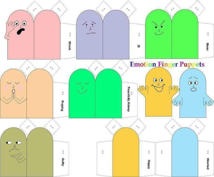 Emotion finger puppets
