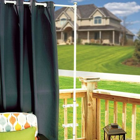 Railing Curtain Rod and 2 Posts