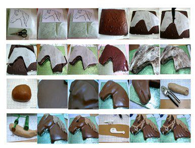 Horse Cake Step By Step Great For Sisters Birthday