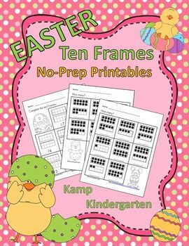 Easter Ten FramesNo-Prep Printables(Quantities of 11 to 20)Easter Ten Frames No-Prep Printables contains 34 ten frames no-prep printable pages for your learners to practice counting and labeling quantities of 11 to 20.  This resource offers 2 different ink friendly formats to provide differentiation opportunities to best meet your learners needs.