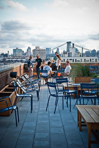 A great place to catch a drink and see the city. The Ides at #Wythe Hotel #NewYork City