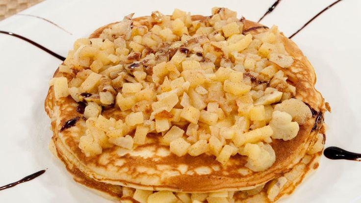 Cómo preparar Tortitas con crema de manzana y castañas - RTVE.es