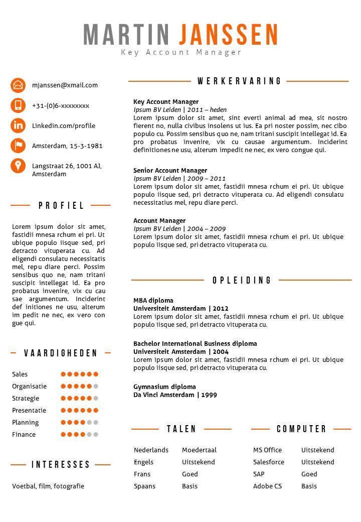 Modern CV sjabloon in Word en PowerPoint. 2 kleurenversies in 1. Inclusief bijpassend sollicitatiebrief sjabloon.