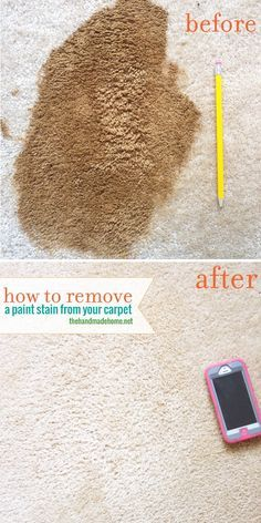 remove paint from your carpetthe handmade home
