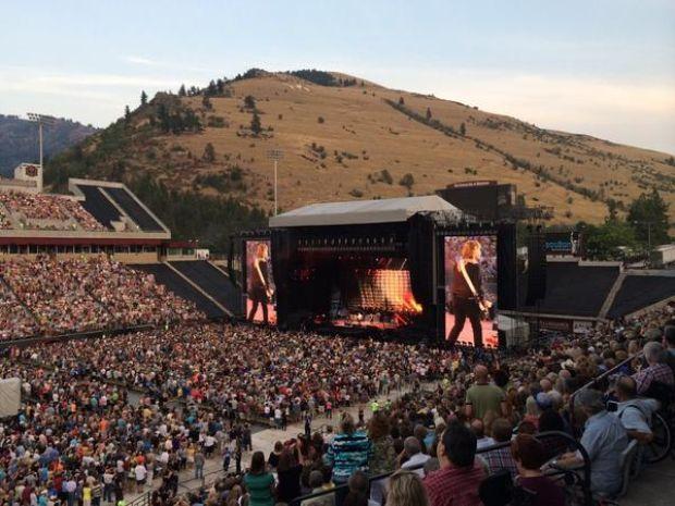McCartney rockin' Washington-Grizzly stadium. Missoula Montana