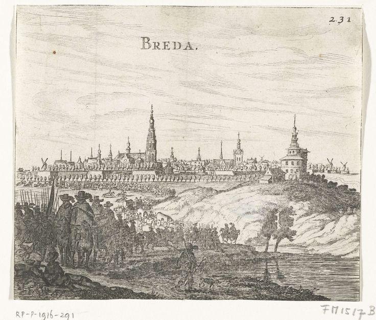 Beleg van Breda, 1624-1625, anoniem, 1650 - 1664. Collectie Rijksmuseum Amsterdam