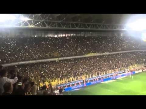Fenerbahçe Eskişehirspor Maçı - Tribünlerde Işık Şov - YouTube