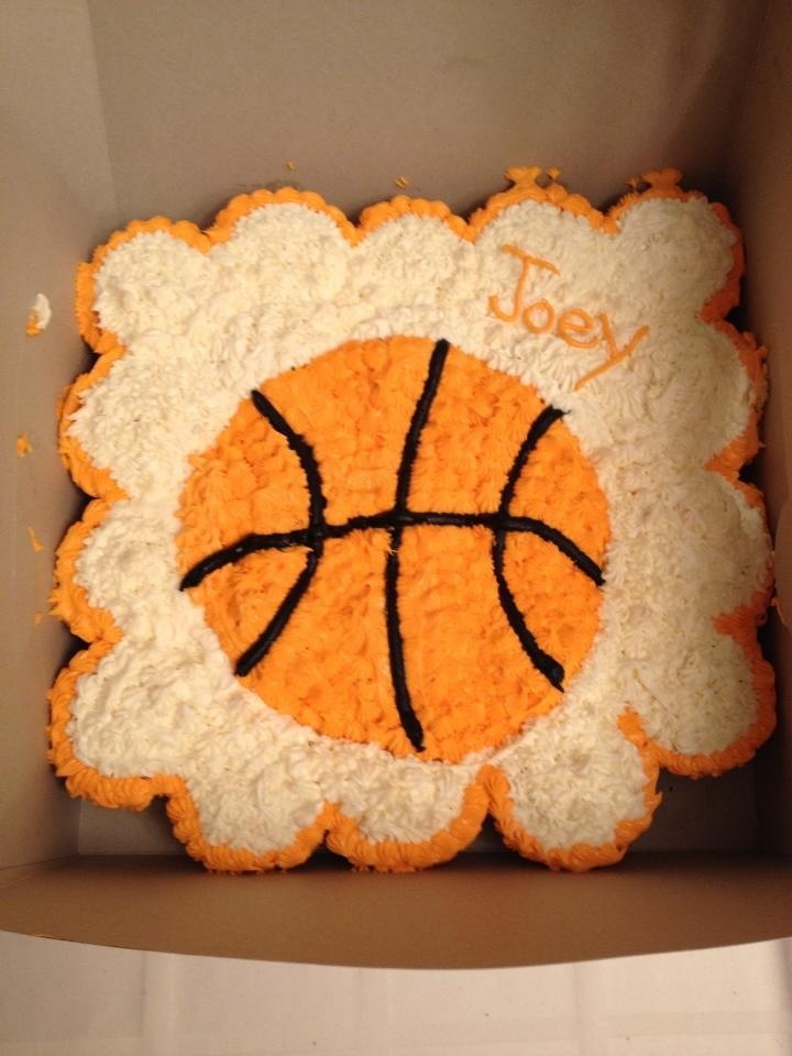 Quot Basketball Quot Cupcake Cake Cook S Creations Pinterest
