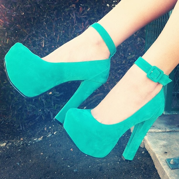 Mint to be. #gojane #mint #seafoam #heels #vday #valentinesday #girly #platforms #anklestrap