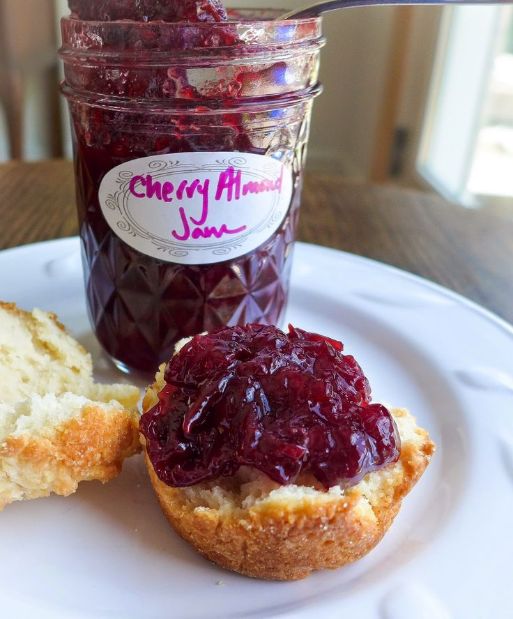 Sour Cherry Almond Jam!!