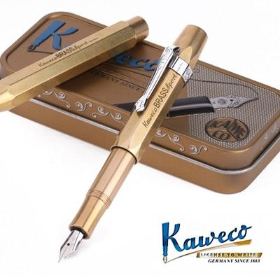 KAWECO BRASS SPORT FOUNTAINPEN #brass #kaweco