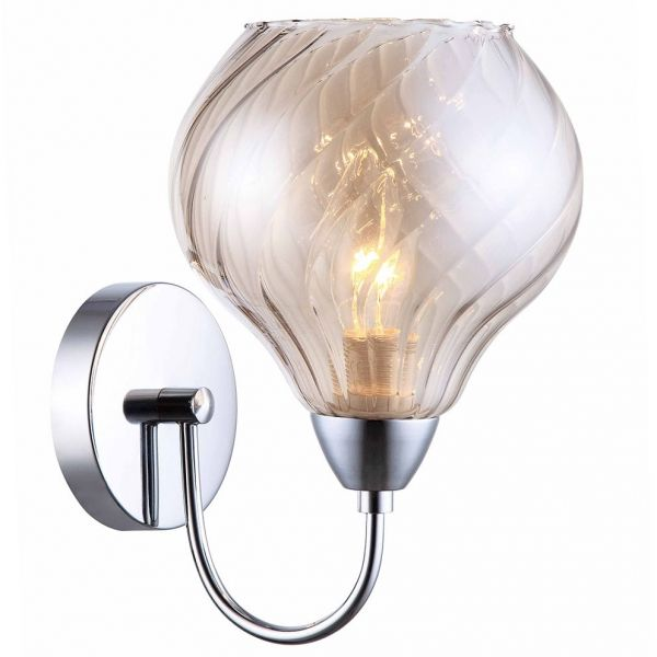 Kinkiet LAMPA ścienna TEMPS MBM2171/1 B Italux chrom przydymiony
