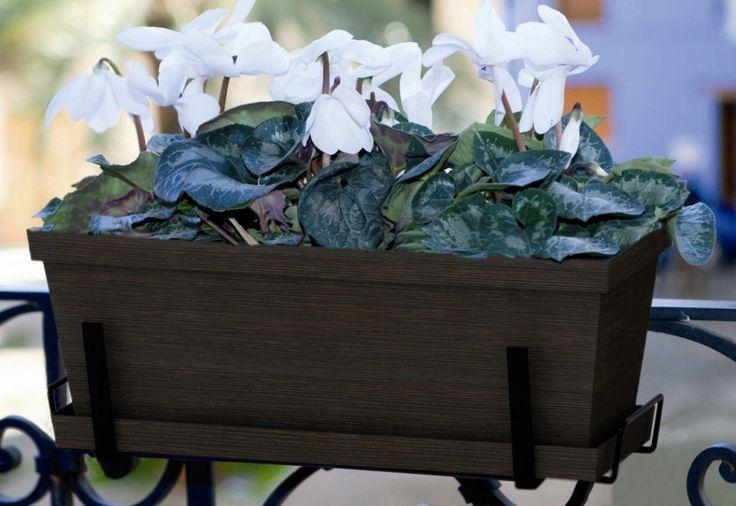 Jardinera + plato + soporte para balcón 50cm #jardineras #jardinerasbalcon #decoracionbalcon