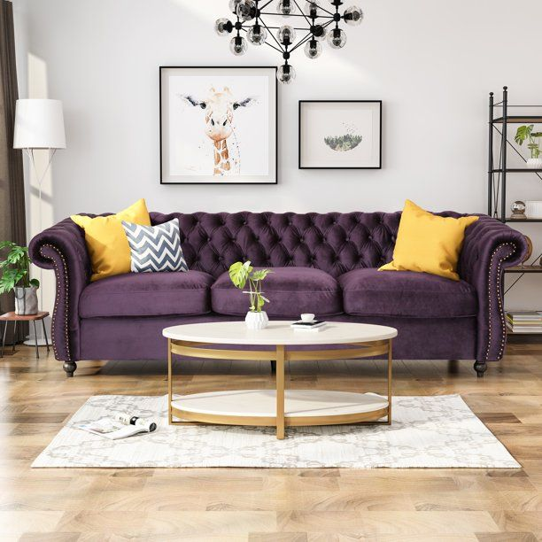 Noble House Aaniya Chesterfield Velvet Tufted Jewel Toned Sofa With Scroll Arms Emerald Walmart Com In 2020 Noble House Tufted Sofa Sofa Frame #tufted #sofa #living #room #ideas