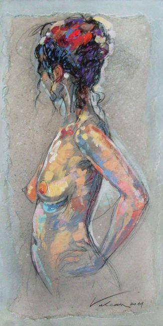 LILA 7 (Peinture),  40x80 cm par Raluca Vulcan