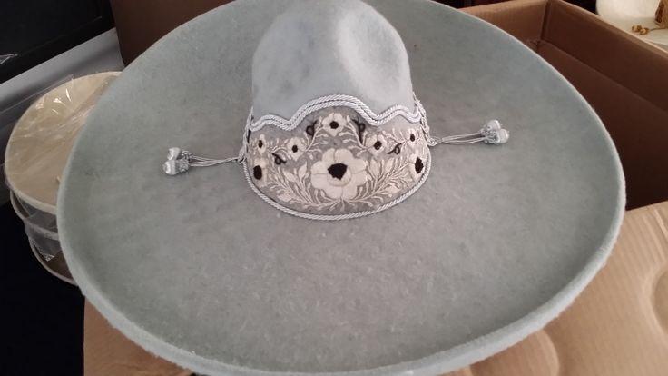 Sombrero charro de lana gris claro charro hats colors - Color gris claro ...