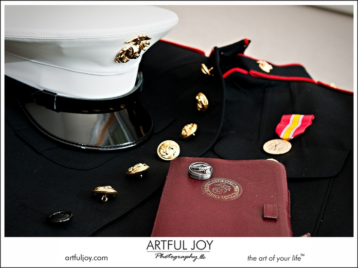 Marine Wedding With Dress Blues   Must Be A Boot   Only One Ribbon