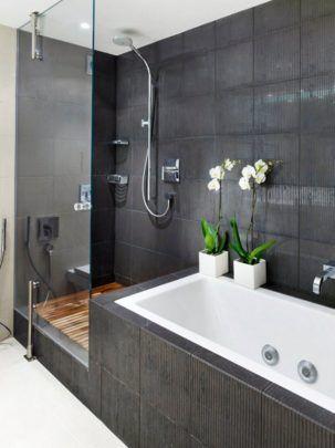 Dusche Badewanne Fliesen Ideen für Wände und Boden - Badezimmer ...