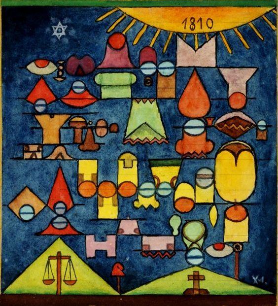 Los varones de mayo (1961) - Xul Solar (Oscar Agustin Alejandro Schulz Solari) - argentino (1887-1963)