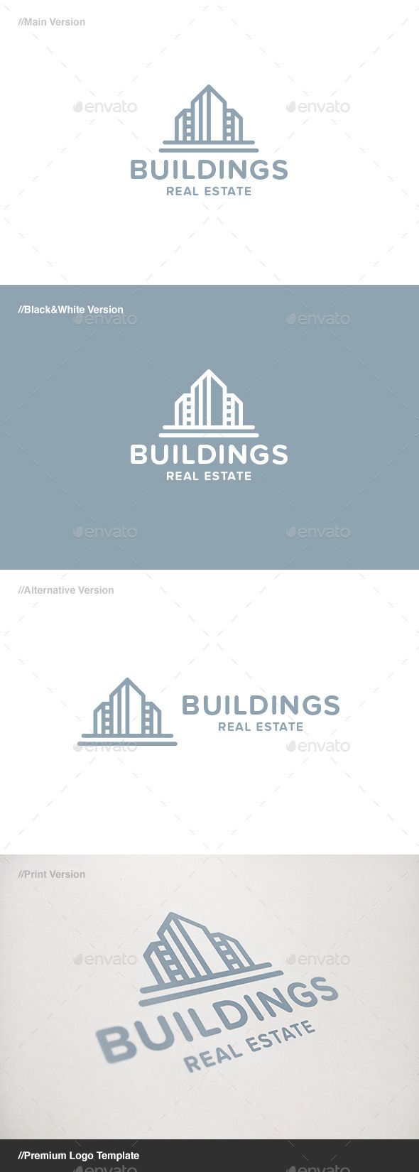 Buildings Real Estate Logo - Buildings Logo Templates