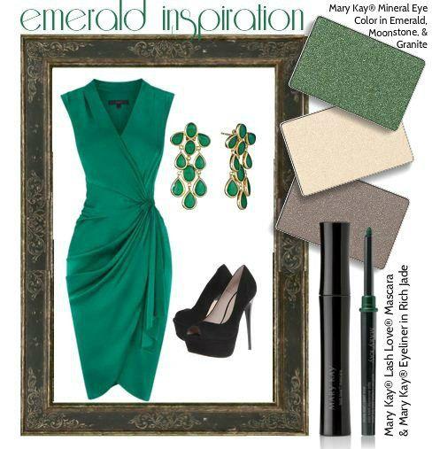 Look Mary Kay® de hoje: Sombras Minerais Emerald, Moonstone, e Granite, Lápis Retrátil para Olhos Rich Jade, e Máscara Lash Love!