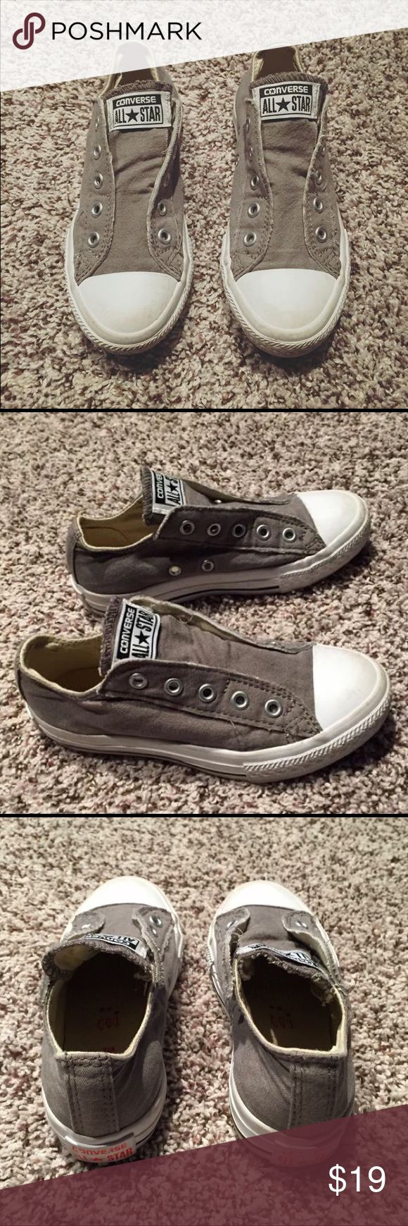 {Kids} Converse - Slip Ons Kids (Neutral) Converse All Stars • Slip On/Laceless • Size 13 Converse Shoes Sneakers