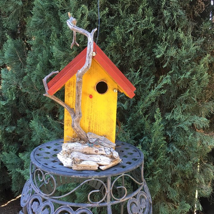 438 Best Images About Handmade Birdhouses And Feeders On Pinterest Rustic Wood Yard Art And