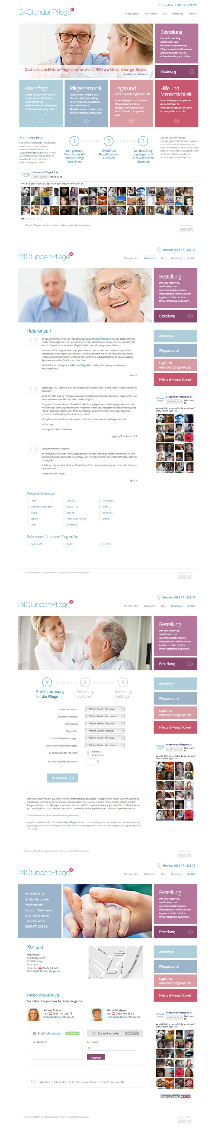 Web design for personal agency