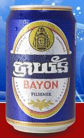 Cerveja Bayon Beer, estilo Classic American Pilsner, produzida por Cambrew, Camboja. 4.6% ABV de álcool.