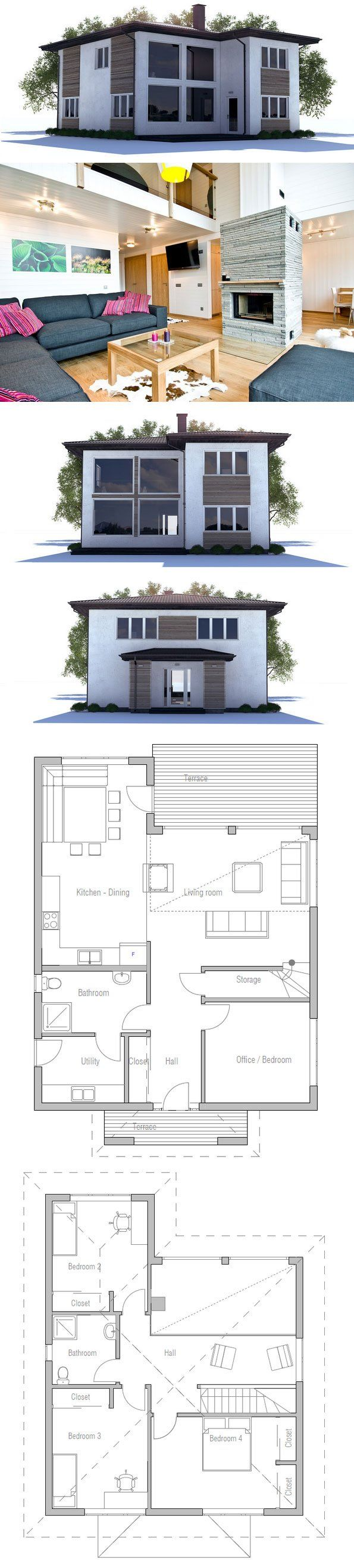 1000+ images about iny Lot House Plans on Pinterest - ^