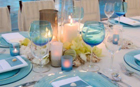 Reception, Blue, Beach, Aqua, Seashell, Glass