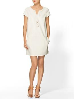 Tinley Road Vegan Leather Shift Dress | Piperlime    Awesome! Simple and clean dress.  Love it.  A must have.