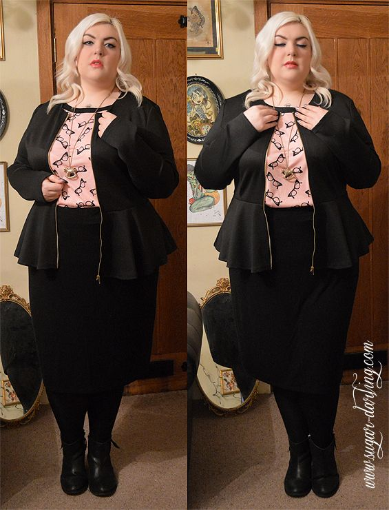 Sexy office wear chic from @Simply Be <3 For full outfit details and more photos head to www.sugar-darling.com #plussizepinup #plussize #plusfashion #plussizefashion #psbloggers #fbloggers #fatshion #pinup #fat #blonde