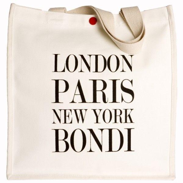 London Paris New York Bondi Tote