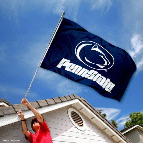 PSU Penn State Nittany Lions University Large College Flag by College Flags and Banners Co.. $29.95. Our PSU Flag measures 3x5 feet in size, has quadruple-stitched fly ends, is made of durable polyester, and has two metal grommets for attaching to your flagpole. The screen printed PSU logos are Officially Licensed and Approved by Penn State University and are viewable from both sides with the opposite side being a reverse image.. Save 25% Off!