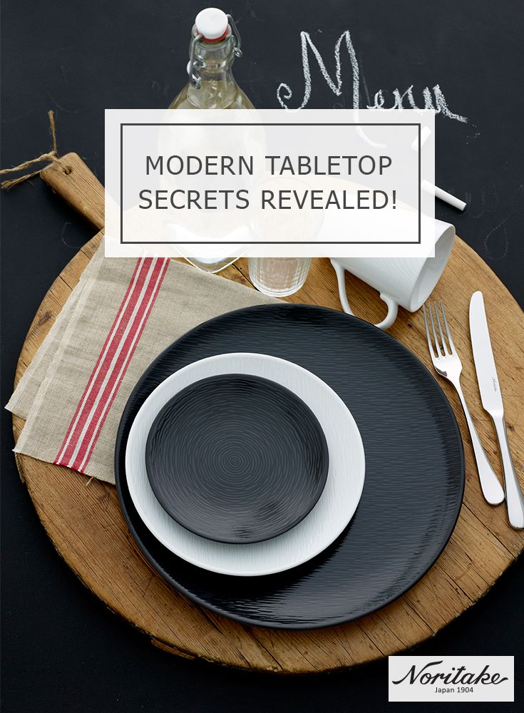 Here is our secret for creating an exciting modern table: mix & match black and white designs for an edgy look that will leave your guests craving for more.