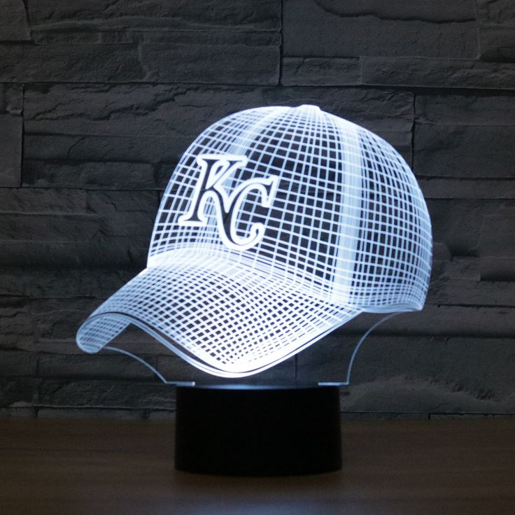==> [Free Shipping] Buy Best 3D Night Light KANSAS CITY ROYALS Baseball Team Cap Touch Switch USB Table Lampara 7 Colors Baby Bedroom Sleeping Lamp Xmas Gift Online with LOWEST Price | 32803769587