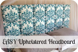 Headboard how to... will match with curtains? Silver? Light green? Print?