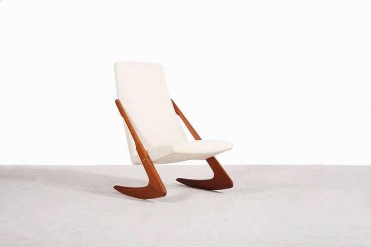 Scandinavian Rocking Chair, circa 1950 3
