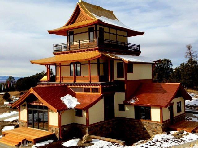 Sangdo Palri Temple With Custom Gold Metallic Roof Metal