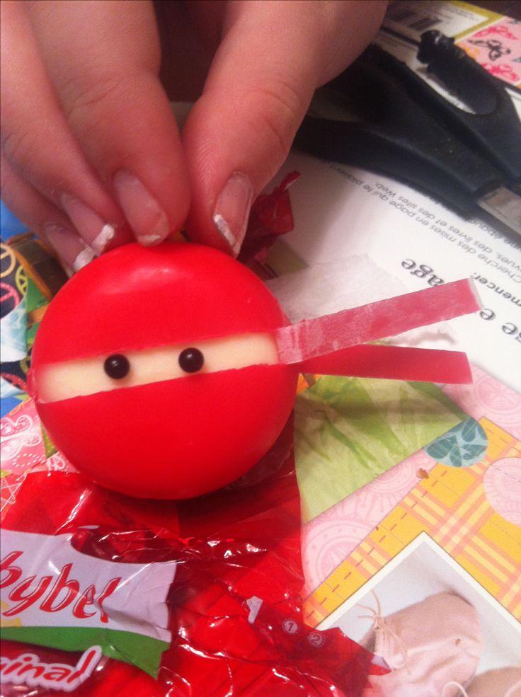 Baby bell cheese ninja! Haha