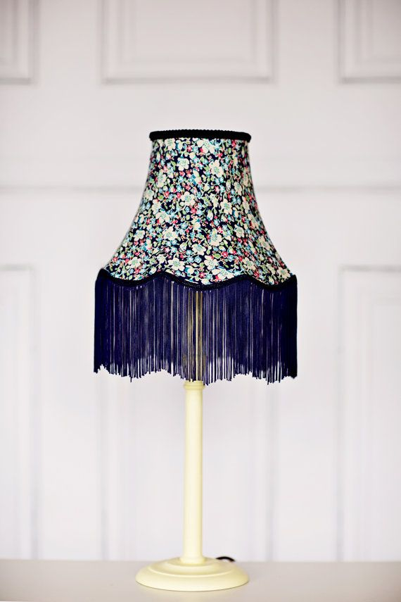 15 best traditional hand stitched lamp shades images on pinterest vintage lighting victorian lampshade liberty fabric lamp fringe lampshade vintage lamp shades blue vintage decor vintage home decor aloadofball Image collections