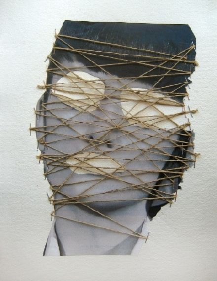 Week 8: collage using stretched twine