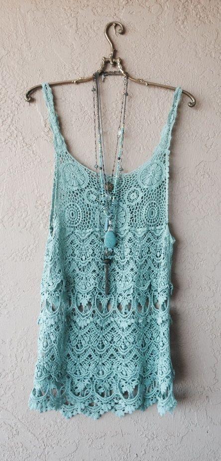 gypsy crochet tunic